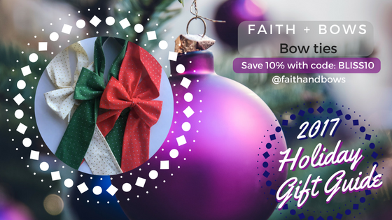 BLISSforSingles, Kwanzaa 2017, bows for women, Faith and Bows, Christmas gifts 2017